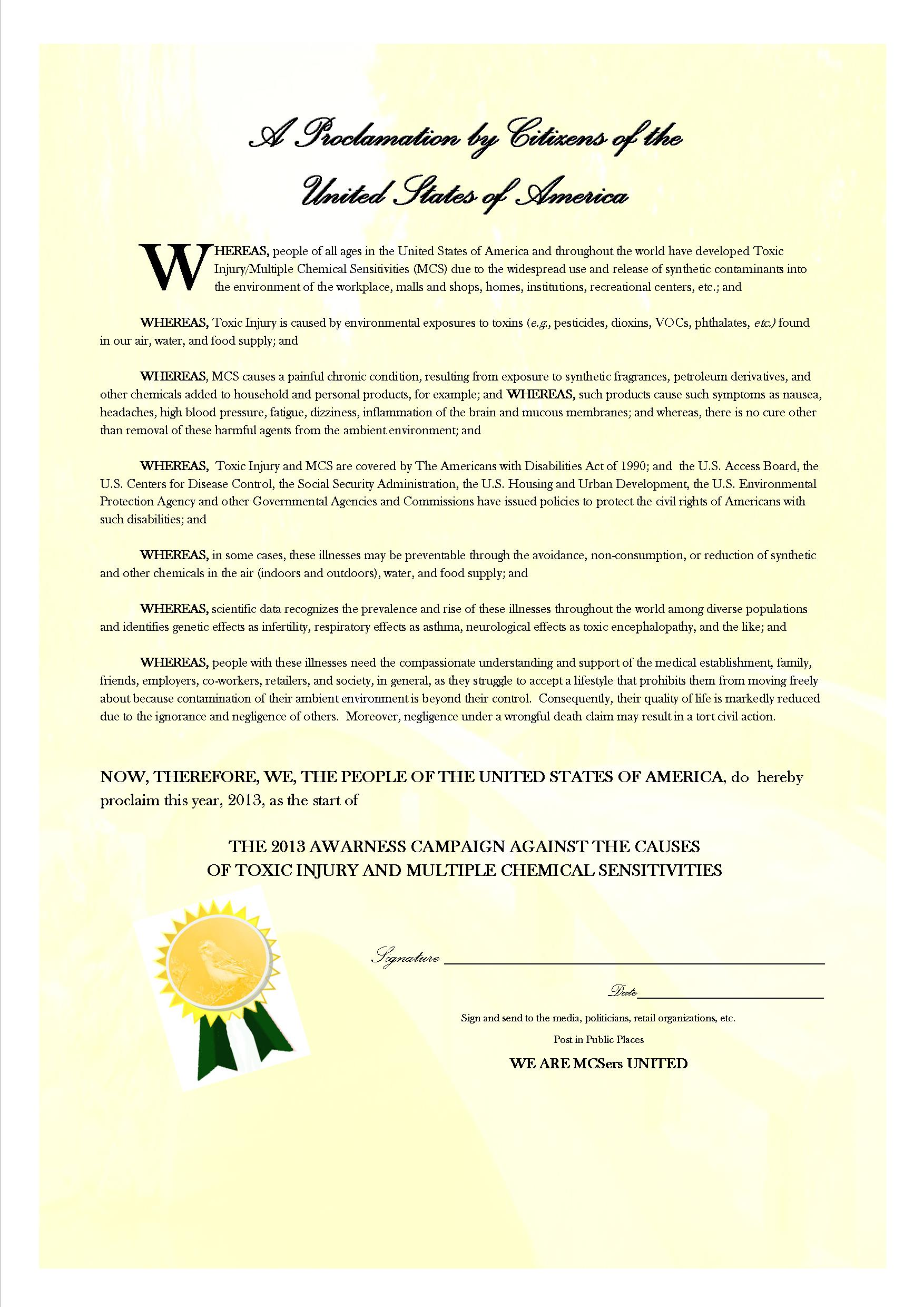 Proclamation Template | Templates For Proclamations Masked Canary