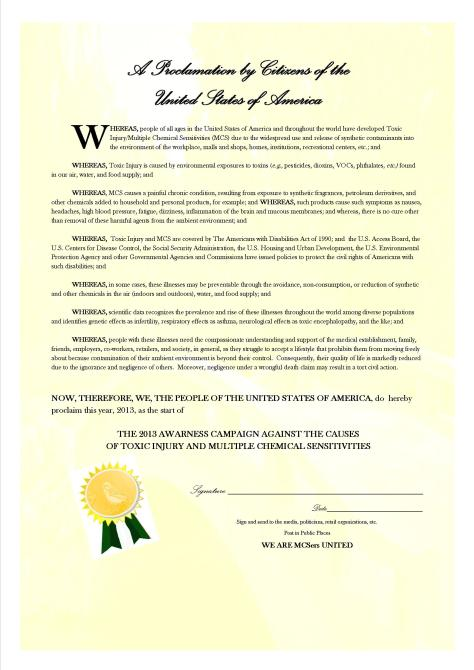 2013 PROCLAMATION correction