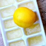lemon and ice tray