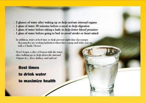 water schedule drinking